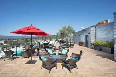 Sky and Vine Rooftop Bar at the Archer Hotel in Napa, California