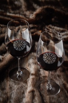 Riedel Etched Cab Glass Set